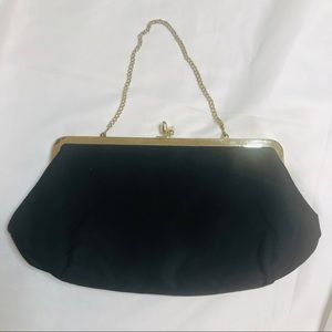 Vintage Black/Gold evening Purse Stylemark Chain